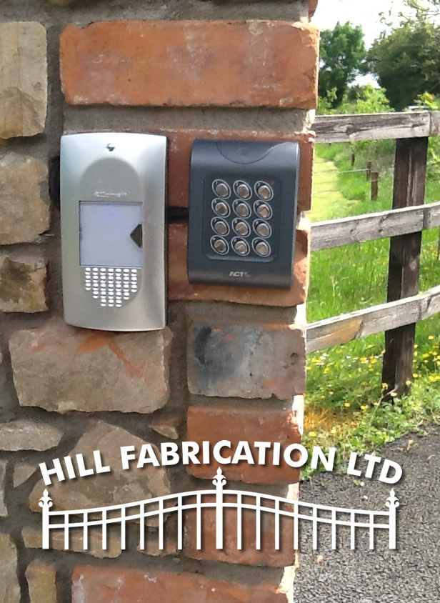 Electric Gate Access Controls - Hill Fabrication
